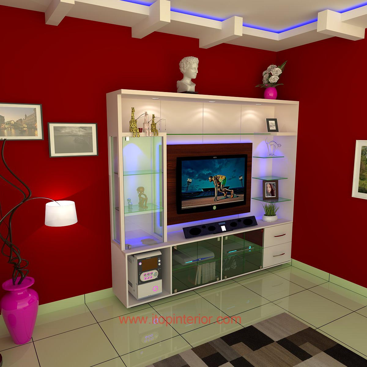 TV wall unit model